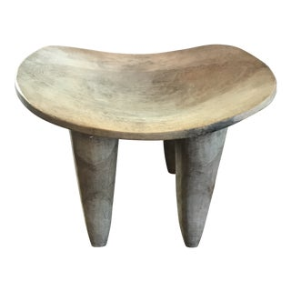 Late 19th Century Primitive African Large Senufo Stool For Sale