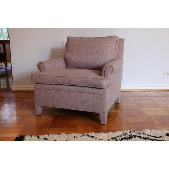 Custom Made Upholstered Lounge Chairs - A Pair For Sale In Los Angeles - Image 6 of 8