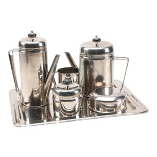 Mid-Century Modern Griffe Coffee and Tea Service - Set of 6 For Sale