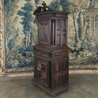 19th Century Louis XIII French Walnut Two-Tiered Cabinet Preview