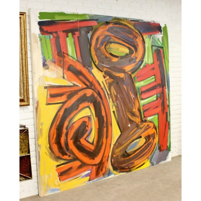 Contemporary Contemporary Modern Abstract Acrylic Canvas Painting Hugh O'Donnell For Sale - Image 3 of 10