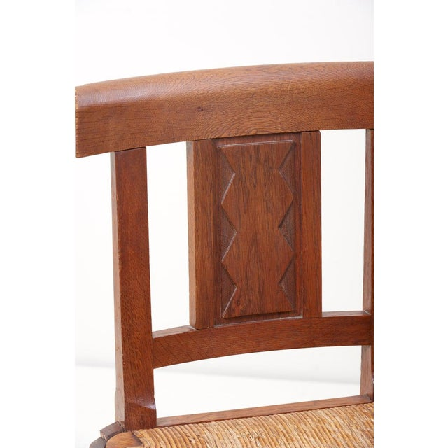 Set of Six Wooden Chairs by Jacques Mottheau, France, 1930s For Sale - Image 12 of 13