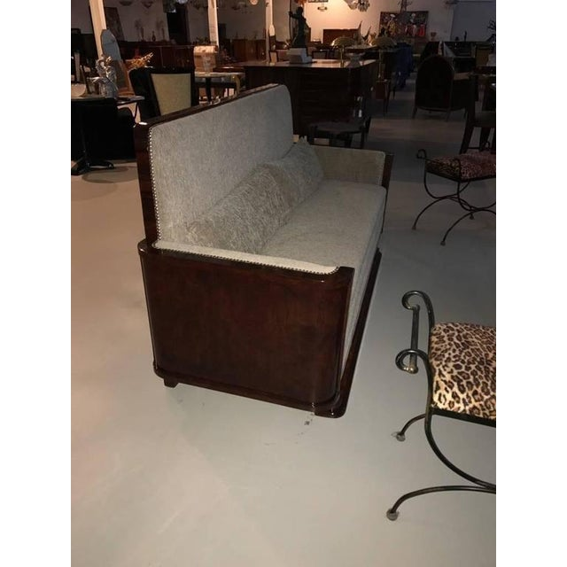 Brown Circa 1930 French Art Deco Macassar Sofa For Sale - Image 8 of 10
