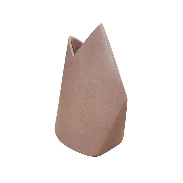 James Johnston Pink Geometric Studio Pottery Vase - Image 2 of 5