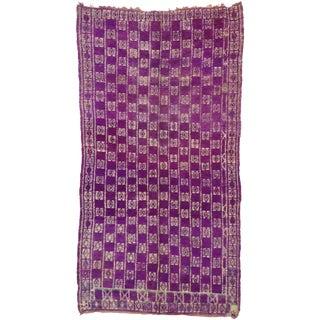 Vintage Berber Purple Moroccan Rug - 06'05 X 12'00 For Sale