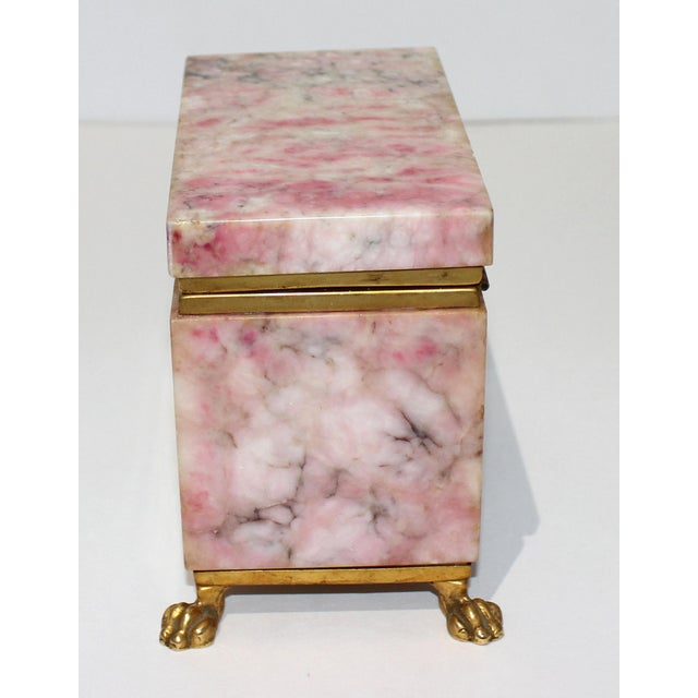 Antique Jewelry Casket With Gold Dore Accent For Sale In West Palm - Image 6 of 10