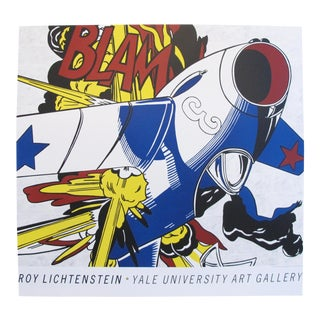 """Original Lichtenstein Poster, """"BLAM"""" Plane"""