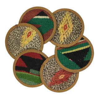 Kilim Coasters Set of 6 - Pirpirim For Sale
