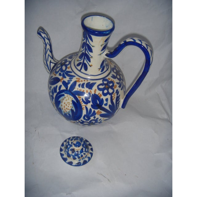 Blue & Gold Hand Painted Teapot - Image 6 of 9
