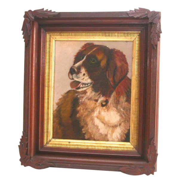 Portrait of a Saint Bernard - Image 1 of 6