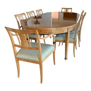 Biedermeier Style Extendable Dining Set For Sale