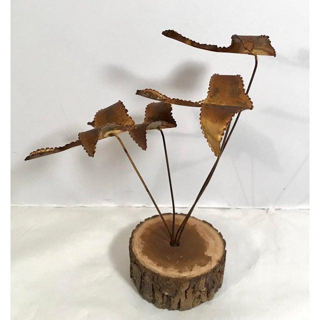 "Vintage Brutalist ""Geese in Flight"" Metal Sculpture For Sale - Image 4 of 11"