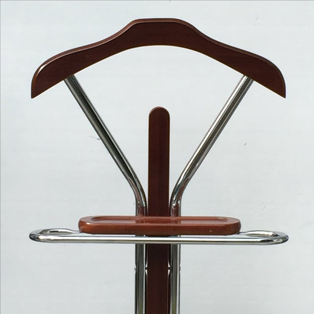 Chrome & Wood Men's Valet Stand - Image 3 of 7