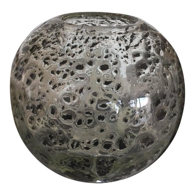 Decorative Round Art Glass Vase - Image 1 of 6