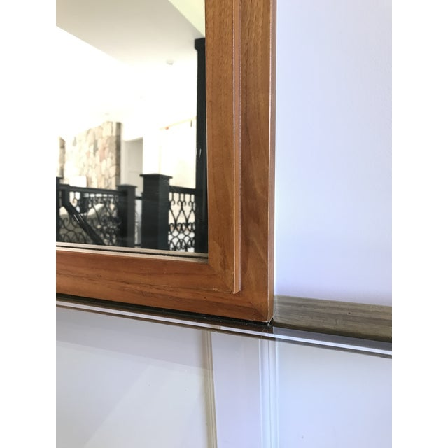 1940s Huge Mid Century Walnut Mirror by Hart Mirror (LaBarge) For Sale - Image 5 of 8