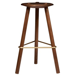 Erickson Aesthetics Solid Walnut Tripod Stool For Sale