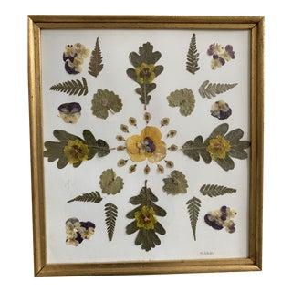 Handmade Botanical Collage For Sale