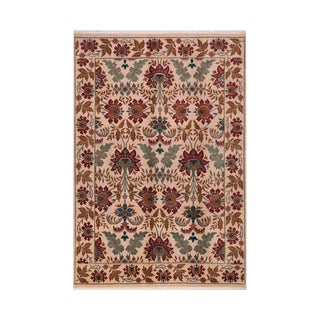 1980s Hand-Woven Indo Rug - 6′ × 8′8″ For Sale