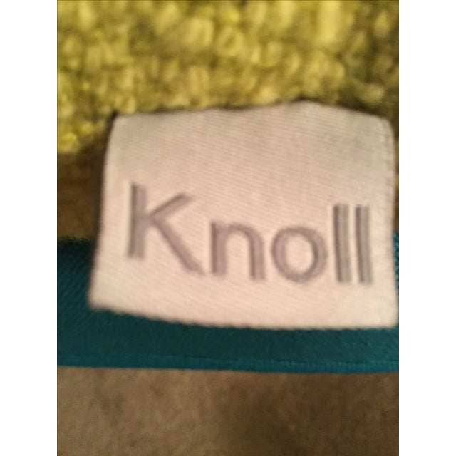Knoll Mid Century Modern Chartreuse Knoll Lumbar Pillow For Sale - Image 4 of 5