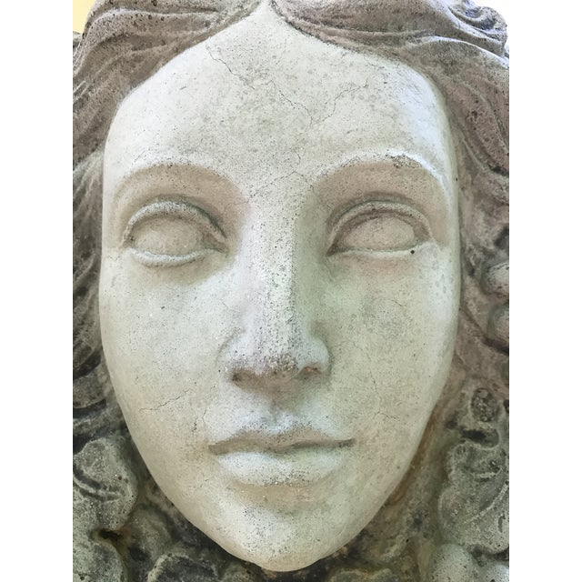 Antique Goddess of Wine Stone Plaque For Sale - Image 5 of 5