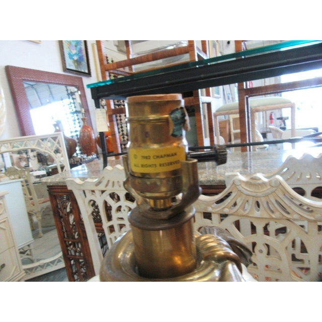 Chapman Brass & Ceramic Lamps - A Pair - Image 4 of 6