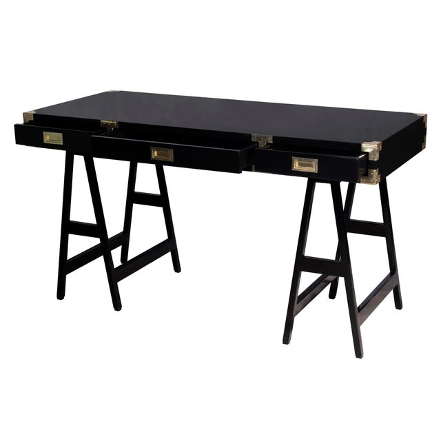 Selamat Designs Chiba Black Lacquer Study Desk - Image 4 of 4