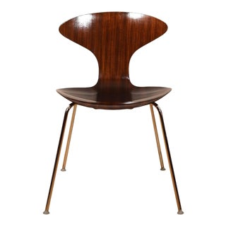 Mid Century Cherner Style Walnut Bentwood Chair For Sale