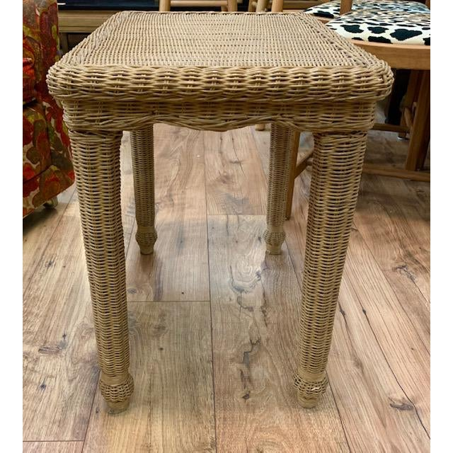 Wicker Side Table For Sale - Image 4 of 6