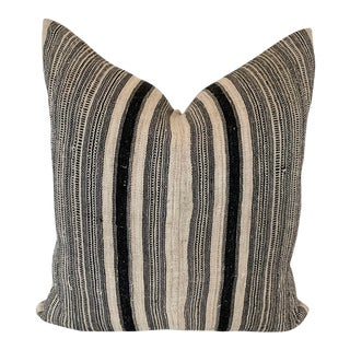Vintage Linen Hemp Roll Pillow For Sale