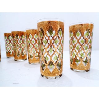 Mid Century Culver Valencia High Ball Drinking Glasses New Old Stock ~ Set of 8 Preview