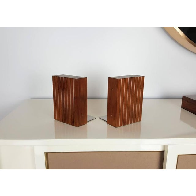 Mid-Century Modern 1960s Paul Evans and Phillip Lloyd Powell Bookends - A Pair For Sale - Image 3 of 5