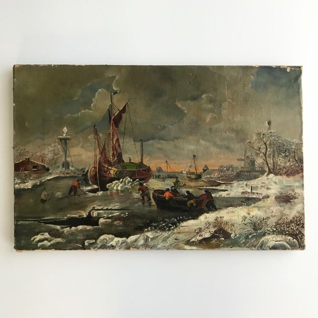 1887 Antique C. Johnson Oil on Canvas Painting For Sale - Image 9 of 12