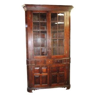 Early American Walnut Corner Cabinet Circa 1825