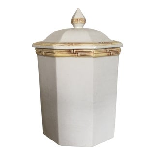 1970's Italian Porcelain Bamboo Ginger Jar For Sale