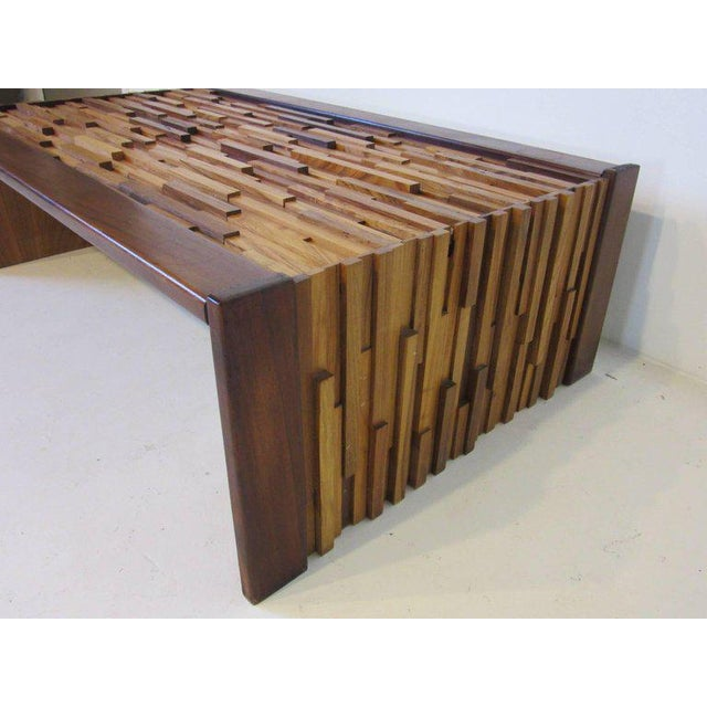 Percival Lafer Percival Lafer Brazilian Rosewood Folding Coffee Table For Sale - Image 4 of 7