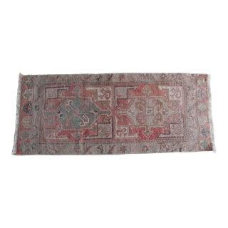 55x128cm Vintage Oushak Rug For Sale