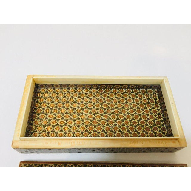 Micro Mosaic Indo Persian Inlaid Jewelry Trinket Box For Sale - Image 9 of 11