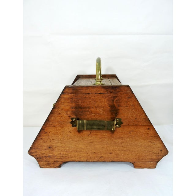 Early 20th Century 20th Century Traditional Oak Coal Purdonium or Scuttle For Sale - Image 5 of 8
