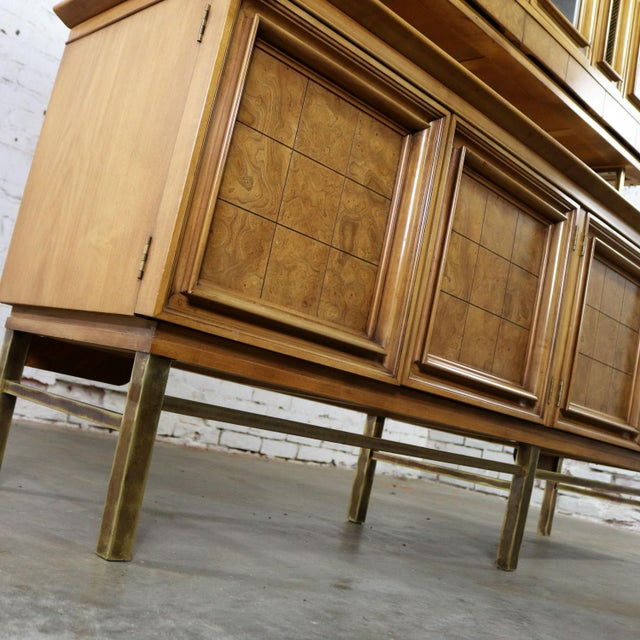 Mid Century Modern Credenza With Hutch Attributed to J. L. Metz Contempora Line For Sale - Image 11 of 13