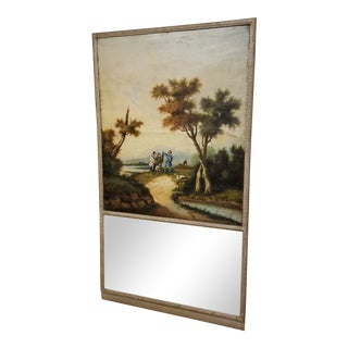 Trumeau Mirror With Painting For Sale