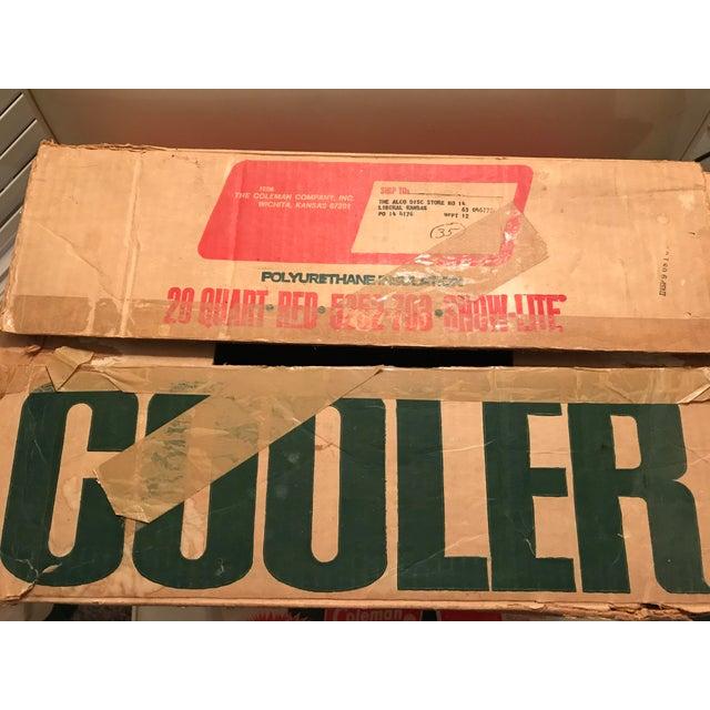 Vintage Coleman Cooler W/ Original Trays & Box