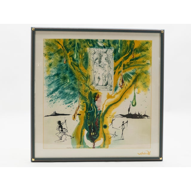 Surrealism The Emerald of the Tablet Salvador Dali Silk Serigraphy 1989 - Edition of 2000 For Sale - Image 3 of 11