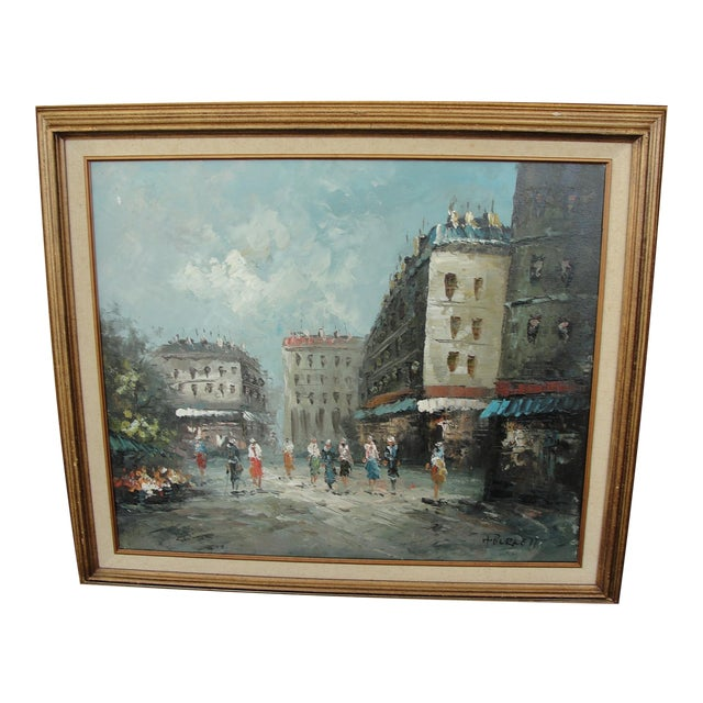 Mid-Century Paris Oil Painting by Burnett - Image 1 of 7