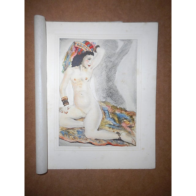 Vintage Hand Colored Copperplate Engravings-Mariette Lydis-Paris-Set of 4 For Sale - Image 4 of 7