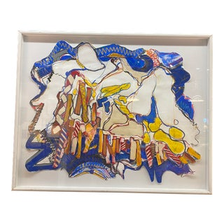 1980s Mixed Media Cutout Signed by Ilene Steglitz For Sale