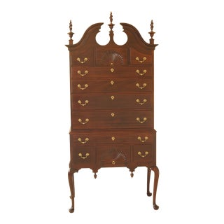 1990s Vintage Stickley New England Style Mahogany Highboy For Sale