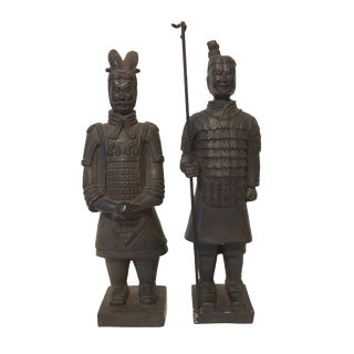 Chinese Soldier Figurines - a Pair