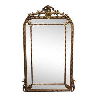 Antique French Wall Mirror For Sale