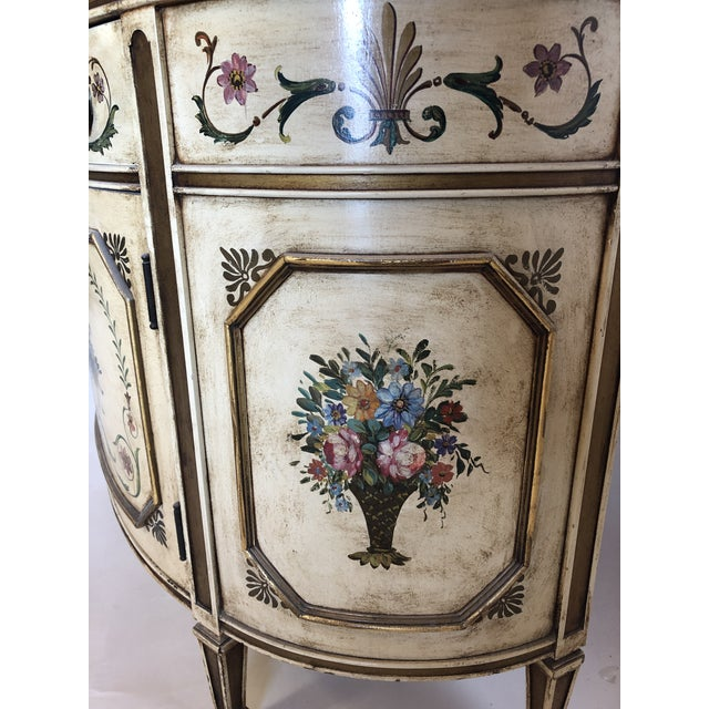 18th Century Style Demilune Cabinet For Sale - Image 4 of 12