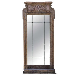 19th Century French Carved Painted Mirror For Sale